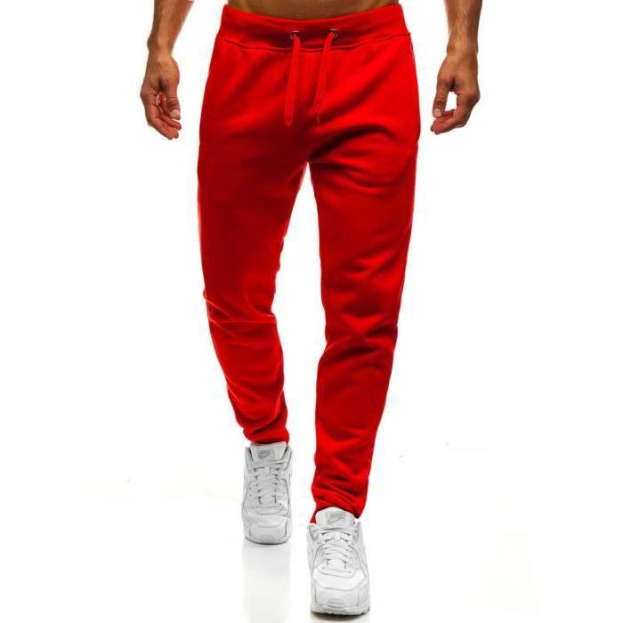 Jogging molleton pour homme Jogging M837 rouge Rouge Rouge - Achat ... 64800d9fc79
