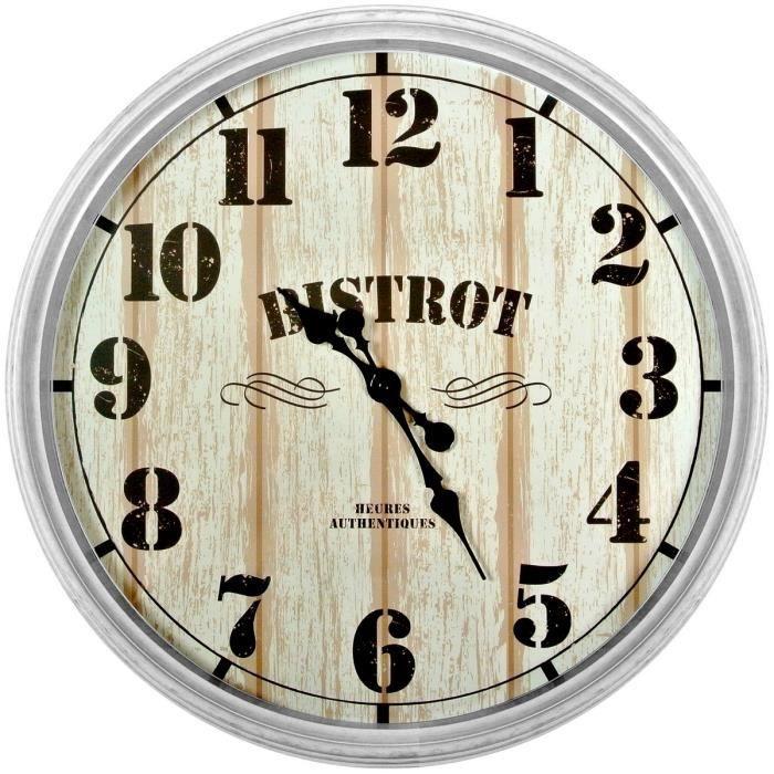 horloge murale pendule géante design bistrot décoration luxe rétro