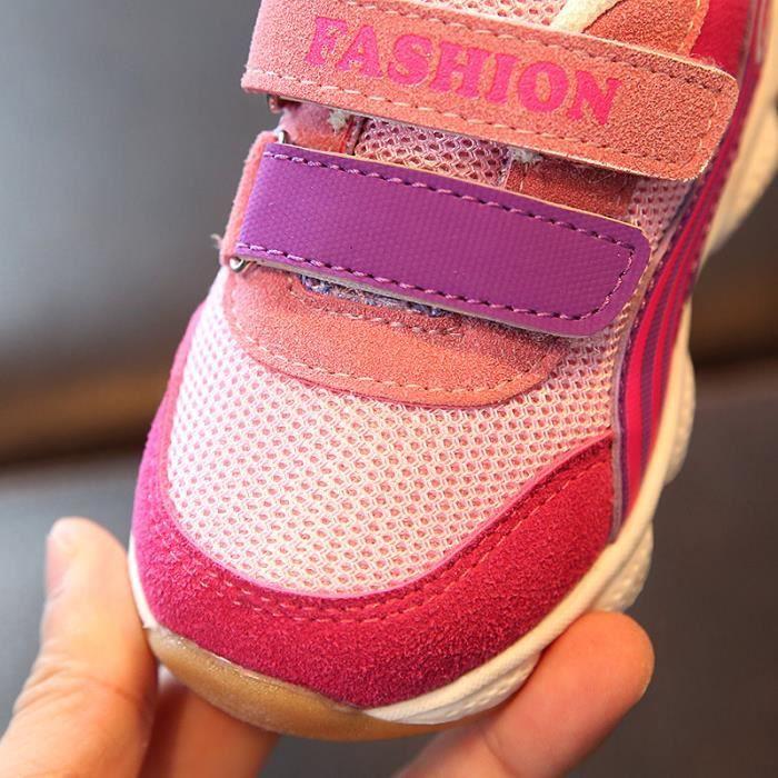 Enfants Chaussures baskets Bébé Garçon filles Mode Stickers magiques Chaussures de sport