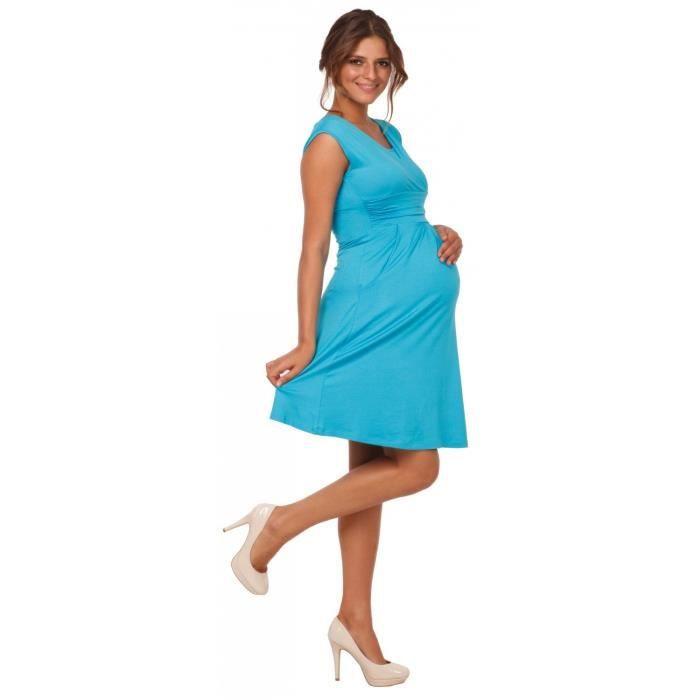Femmes Bonne Maman. Soins infirmiers maternité 2en1 Robe patineuse poches sans manches. 500p 2PVDXO Taille-36
