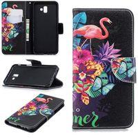 """HOUSSE - ÉTUI Etui Samsung Galaxy J6 Plus - J6+ 6.0"""" Flamants ro"""
