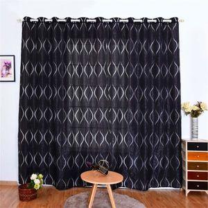 RIDEAU Noir rideaux occultants 100x250 cm 2 pcs