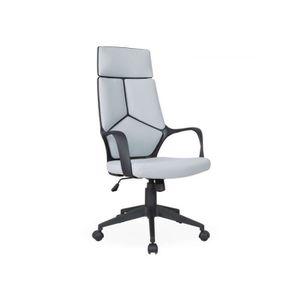 CHAISE DE BUREAU Chaise de bureau à roulette Papel Tissu Gris clair