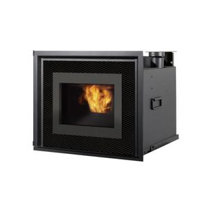 INSERT - FOYER Insert à granulés pour cheminée 8 Kw foyer en font