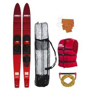 """SKI NAUTIQUE - CORDE JOBE Pack Ski Allegre - 67"""" - Rouge"""