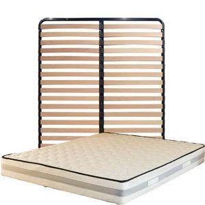 MATELAS Matelas 160x200 + Sommier Démonté + pieds + Oreill