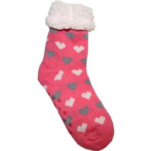 CHAUSSON - PANTOUFLE Lot de 2 paires chaussons Chaussettes Coeur Femme