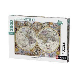 PUZZLE Puzzle 2000 pcs Planisphère Historique