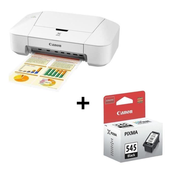 Pack CANON Imprimante jet d'encre compacte Pixma iP2850 + Cartouche PG 545 Noir