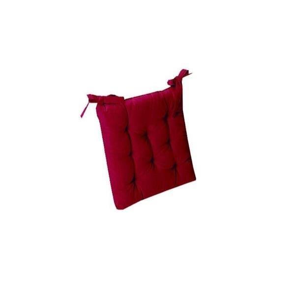 lot x2 galette de chaise bordeaux 40x40 achat vente coussin de chaise cdiscount. Black Bedroom Furniture Sets. Home Design Ideas