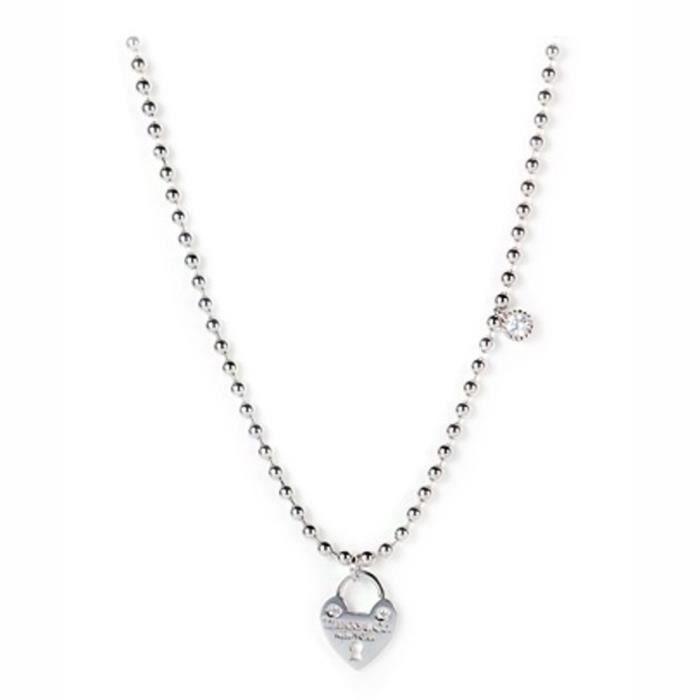 [ALBJHB] Jane Agnes coeur en argent collier pendentif avec zircone cubique Pendentif