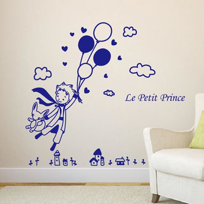 Stickers Dessin Anime Le Petit Prince Bleu Enfants Décoration