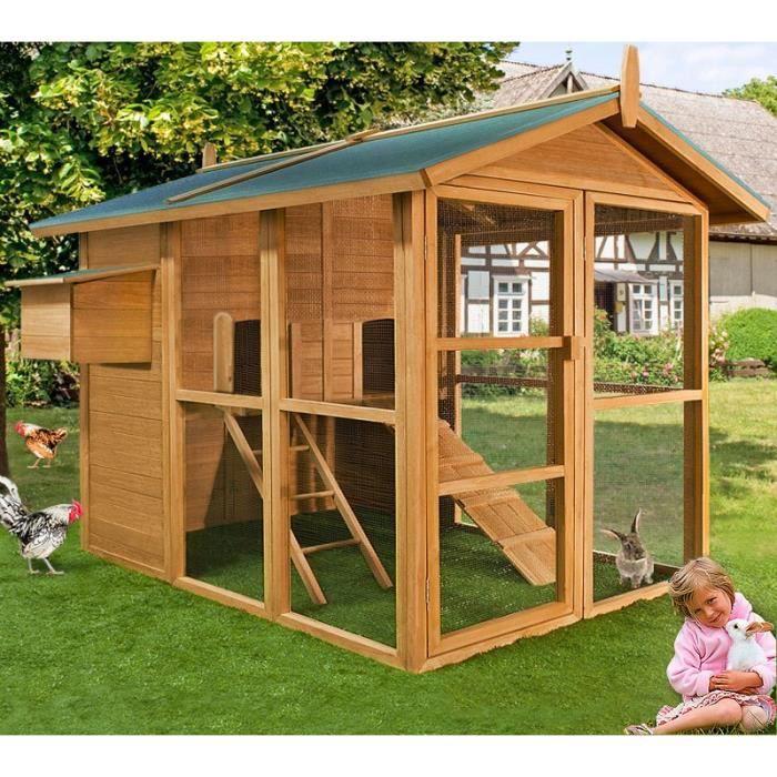 poulailler en bois cage clapier enclos poulet vola achat vente poulailler poulailler en bois. Black Bedroom Furniture Sets. Home Design Ideas