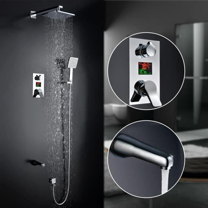 set de douche encastrable avec ecran lcd affichage. Black Bedroom Furniture Sets. Home Design Ideas