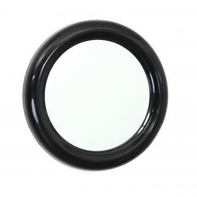 round miroir rond pvc 30cm noir achat vente miroir cdiscount. Black Bedroom Furniture Sets. Home Design Ideas