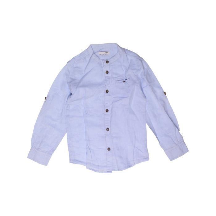ff76d1c2f6647 Chemise manches longues enfant garçon LH BY LA HALLE 8 ans gris été -  vêtement bébé #967174