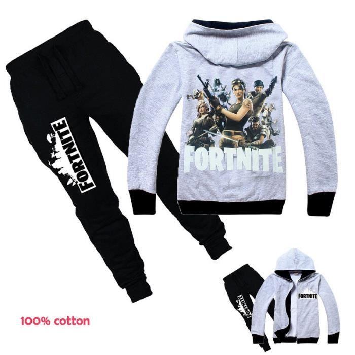 Enfant fille vêtements 2 pièces Set Fortnite imprimé 3D Survêtement ... b440fe1f262