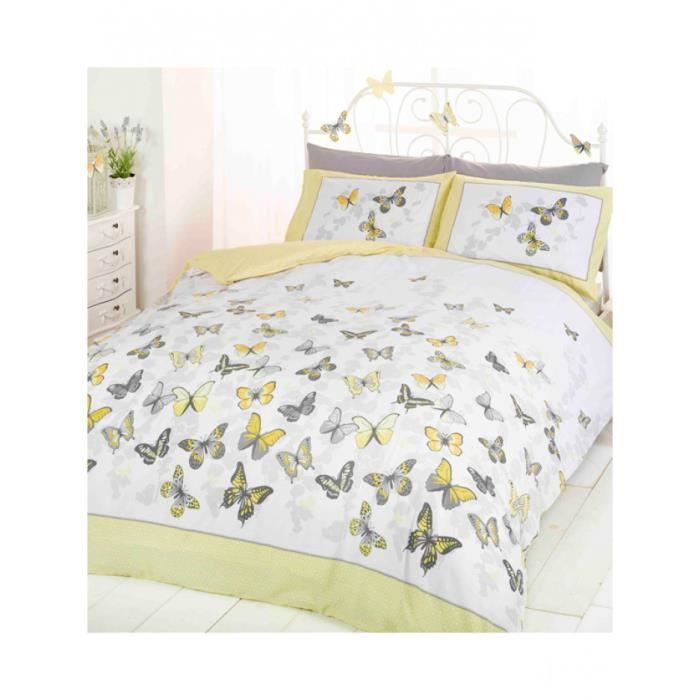 Butterfly flutter taille King housse couette et taie d'oreiller