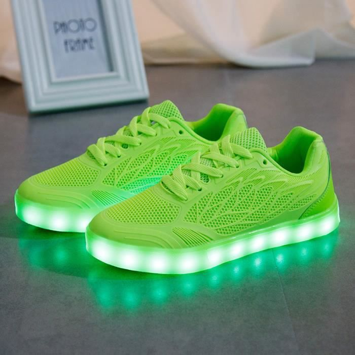 Femme Chaussures Loisirs LED Chaussures lumineuses clignotantes Chaussures chargeur USB H4fE2Wk6