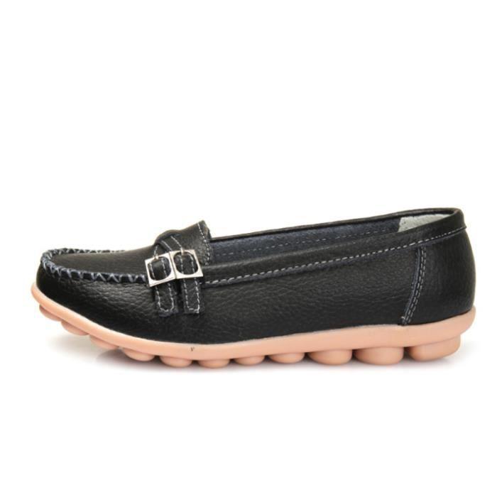 Mocassin Femmes Mode Loafer Detente Classique Chaussures BWYS-XZ088Noir40