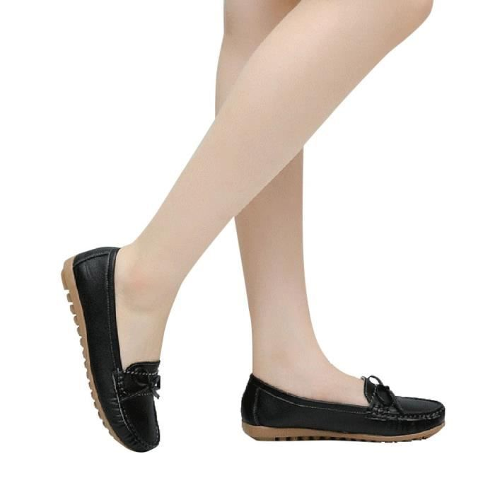 Slip En Chaussures 7068 Femmes Casual Mocassins Mode on Cuir Pois Conduite Bow Veberge 78qYdWw6