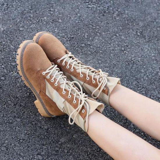 De Chaussures Cow Cheville Dames Bottes Dedasing® Bottillons Marron Femme Boot Chevalier boy Martin En Cuir T3lcKuF1J