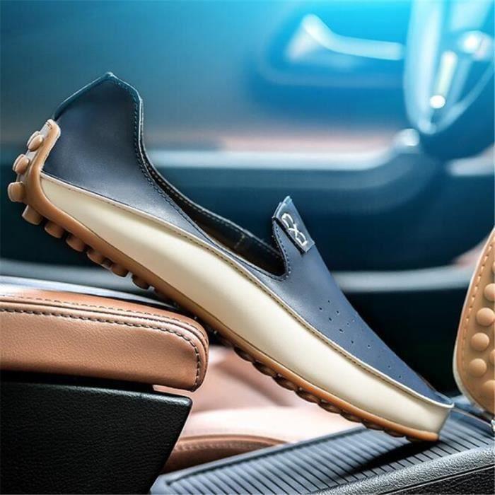 Chaussures Hommes De Marque De Luxe Mode Grande Taille Chaussures DTG-XZ72Bleu44 GZNXlr