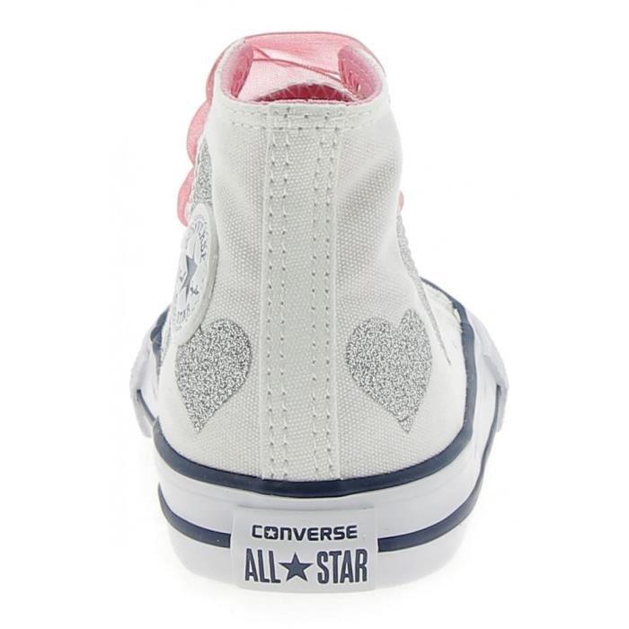 Converse - Converse CTAS Hi Chaussures de Sport Petite Fille Blanc