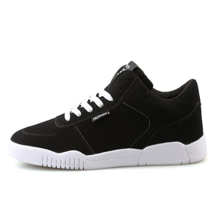 Chaussures De Sport Pour Hommes en daim Textile De Course Populaire TYS-XZ126Noir42 tznJTP4O
