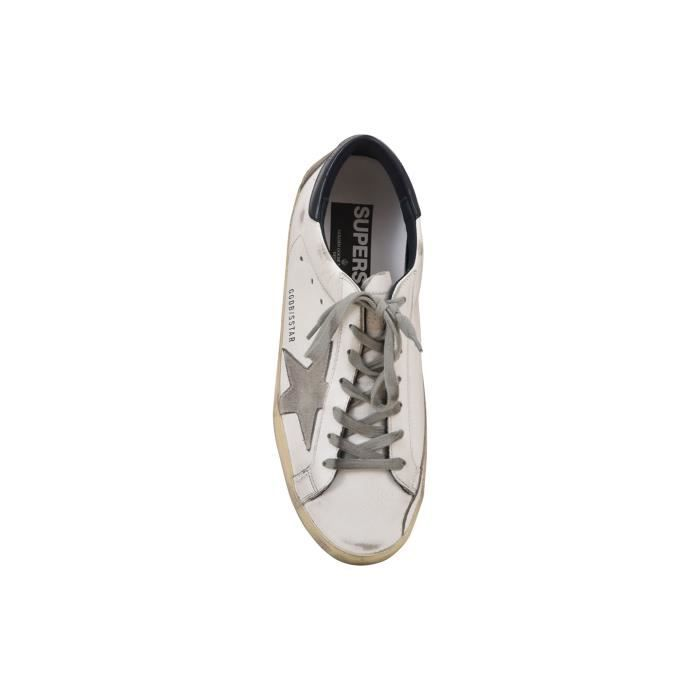 GOLDEN GOOSE HOMME GC8MS590A7 BLANC CUIR BASKETS dQHFKWz