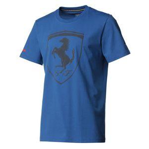 PUMA T-shirt Ferrari Big Shield Manches courtes - Homme - Bleu