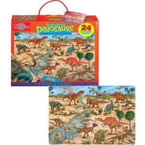 T.S.SHURE Puzzle Géant Dinosaure 24Pcs 100X60Cm
