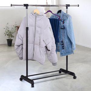 PORTE-MANTEAU Portant Penderie à Vêtements avec Roulettes Mobile