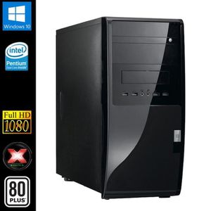 UNITÉ CENTRALE  PC de Bureau, Intel 2x2.8GHz, 8Go RAM, SSD