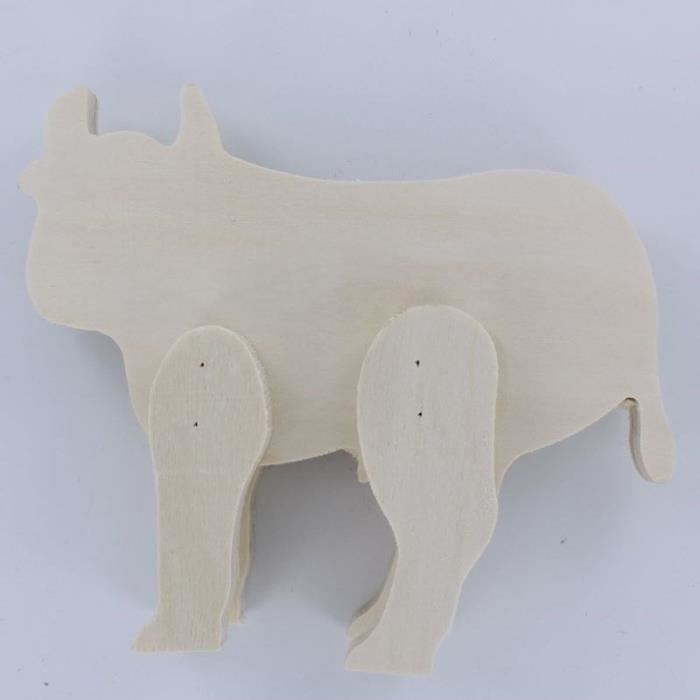 Figurine Taureau en bois - 15,5x12,5x,3,4cmFIGURINE MINIATURE - PERSONNAGE MINIATURE