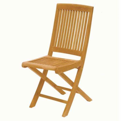 Lot de 2 Chaises pliantes JAVA Teck MEDICIS - Achat / Vente fauteuil ...