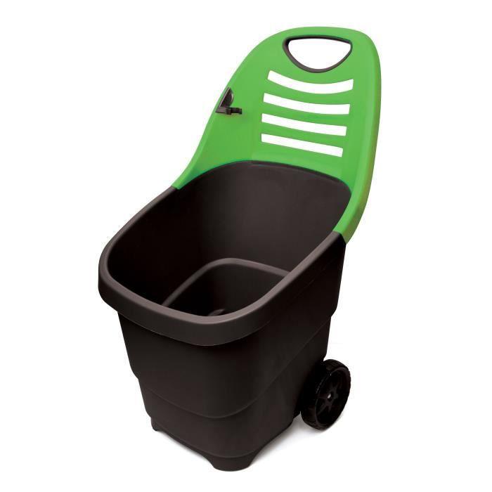 Techit chariot de jardin brouette 67l 2 roues for Brouette 4 roues pour jardin