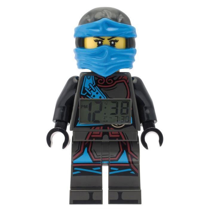 9383cbe6b1 Lego - Réveil Lego Ninjago Time Twins Nya - Bleu et noir - Achat ...