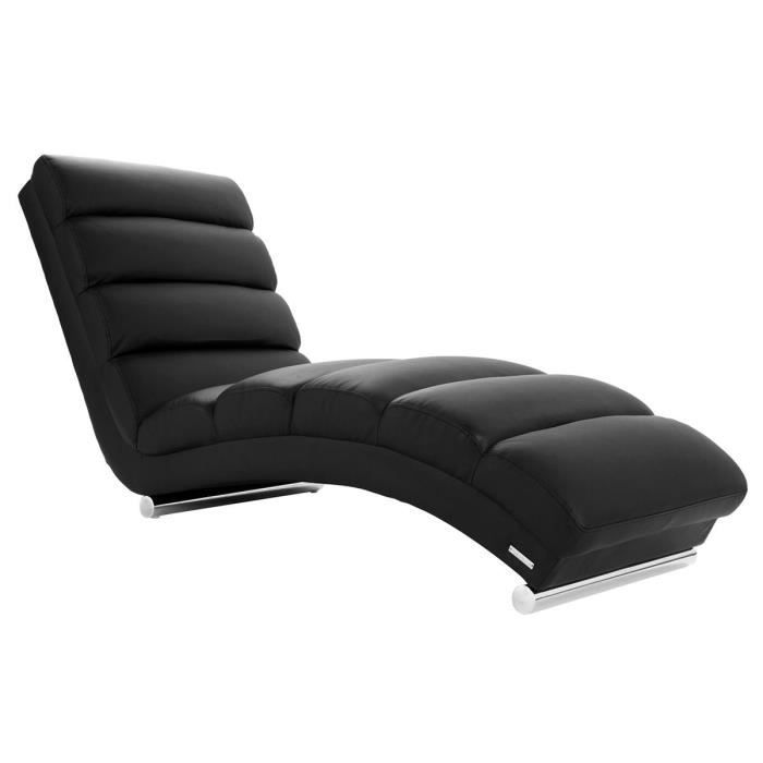 Miliboo Chaise Longue Fauteuil Design Noir Achat Vente - Achat fauteuil design