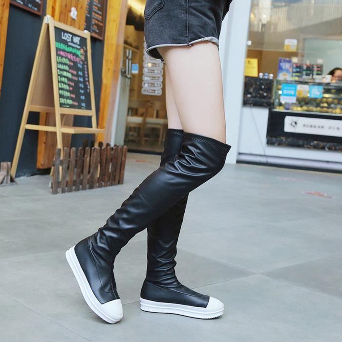 Au Sexy Chaussures Genou Boot Femmes Slim En Caoutchouc Longues Longueur Mode aUnXtq