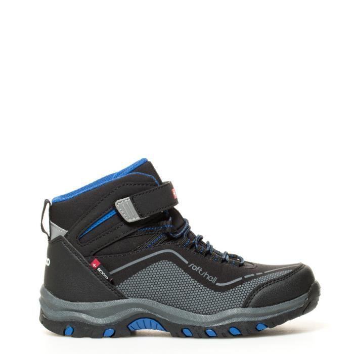 + 8000 - Bottes de trekking de Tempts noir, bleu -SoftShell