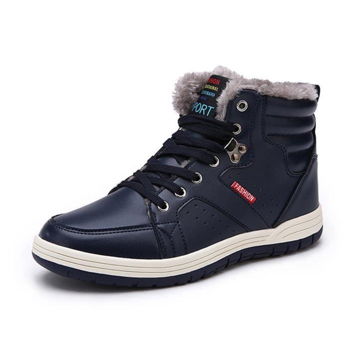 38 1 et Max Mens Baskets antidérapants Chaussures R7IV6 cuir de fourrure neige Hiver montantes lacets de à 2 Taille cheville Tqqwt4Ux1