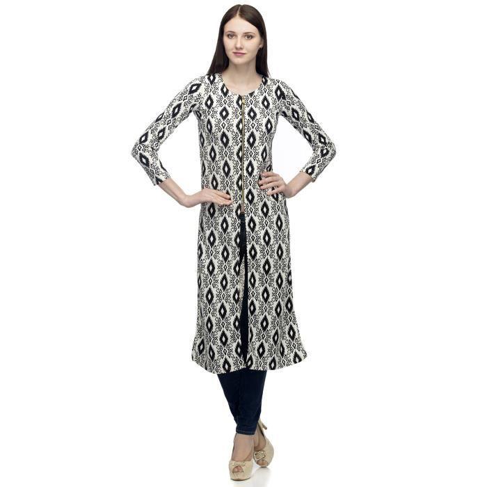 Coton Designer Imprimer Femmes Robe avec fermeture éclair dor WCPXI Taille-30