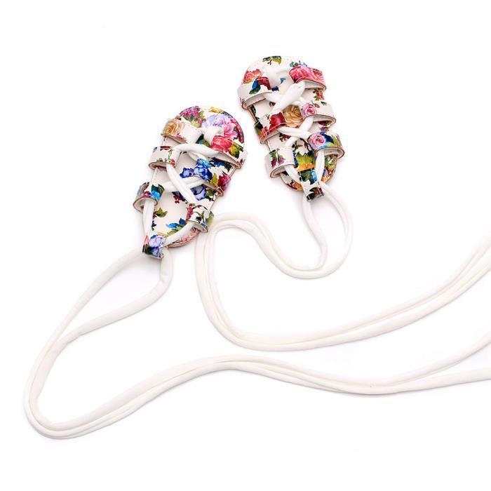 BOTTE Bébé nouveau-né Bandage Cross-tied Sole Chaussures Fille Toddler Prewalker@BlancHM XyLnonG
