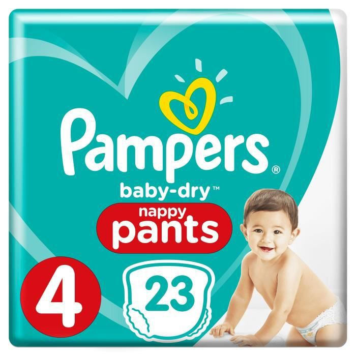 Pampers Baby Dry Pants Taille 4 8 à 15kg 23 Couches Achat