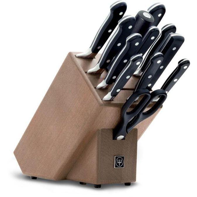 bloc couteaux brun 12 pieces wusthof 9847 achat vente couteau de cuisine bloc couteaux