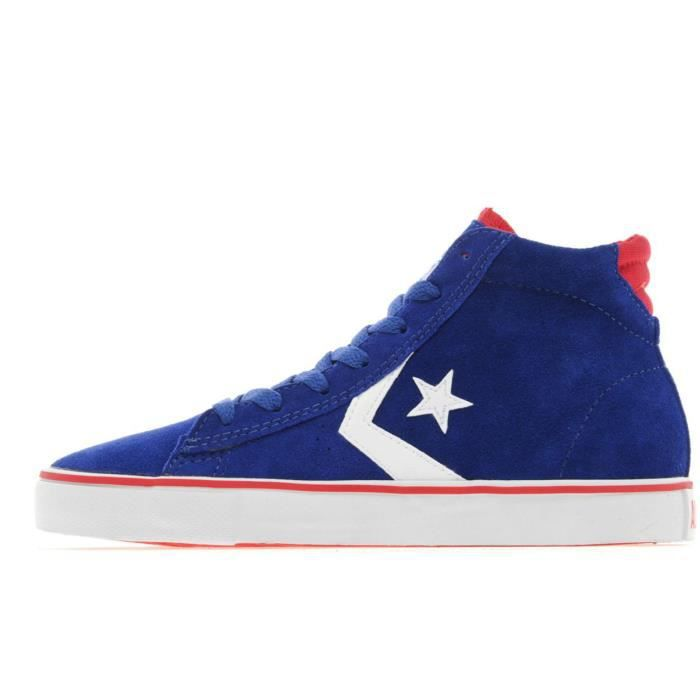 CONVERSE ALL STAR PRO LEATHER VULC NOIR / JAUNE CUIR - DAIM 5Xnnve