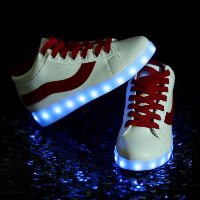 Femme USB Cha si ing LED Chaussures de sport Clignotant S peut être si elle ah
