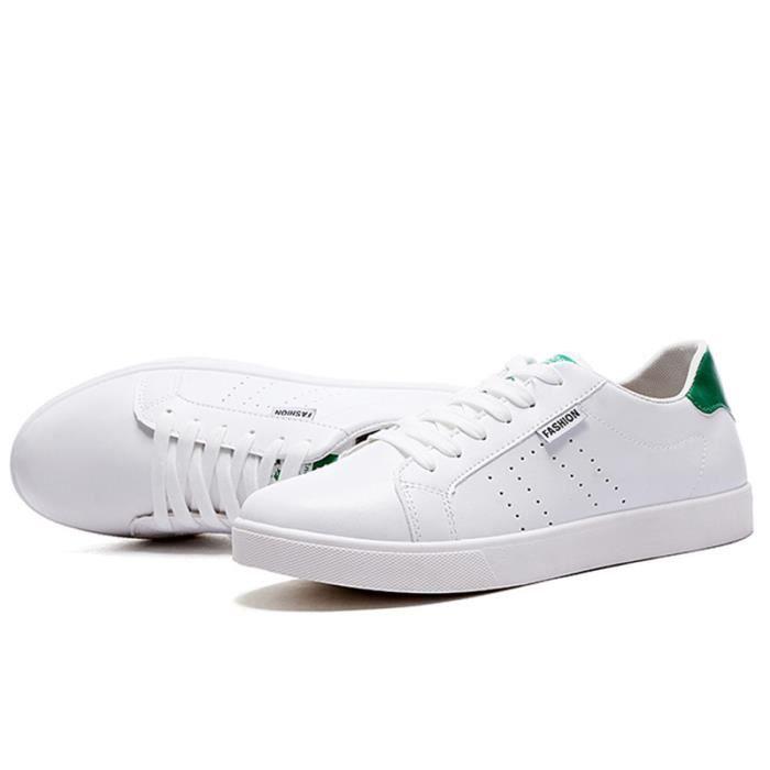 Chaussures De Sport Pour Hommes En Cuir Basket Populaire BTYS-XZ128Vert44