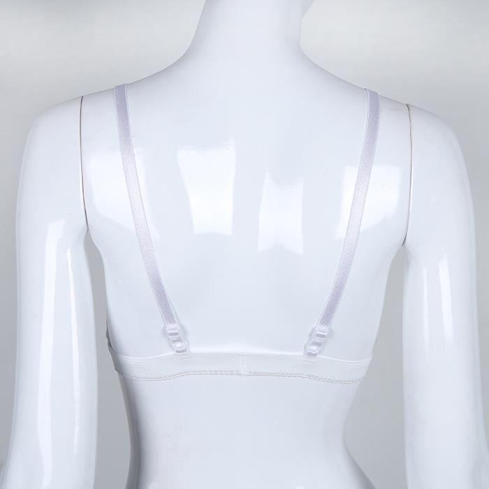Bralette Floral M Bralet Sexy Voir Dentelle Stra Par gorge Femmes blanc Bustier Soutien gTWBFB4A